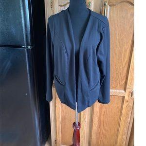 Torrid Black Ponte Knit Blazer Size 1 (1X)